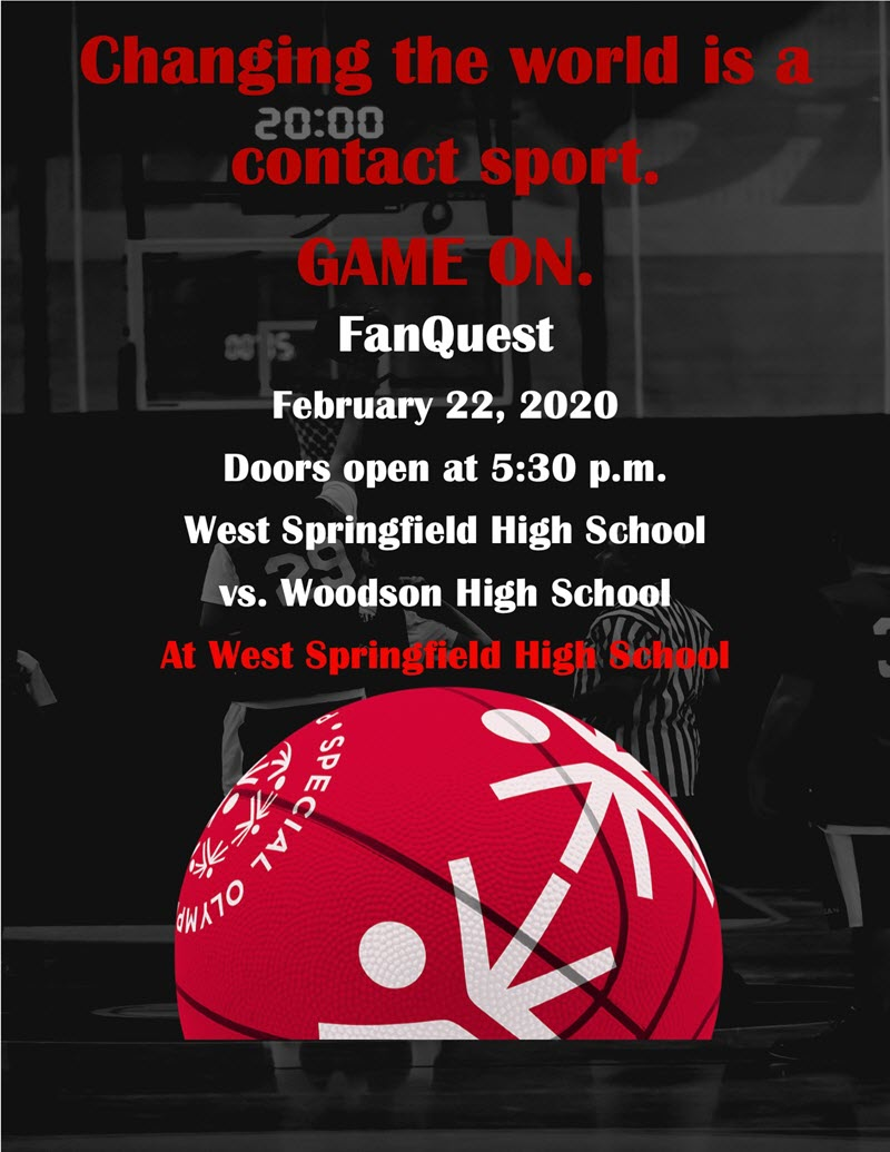fanquest flyer with containing information on the web page